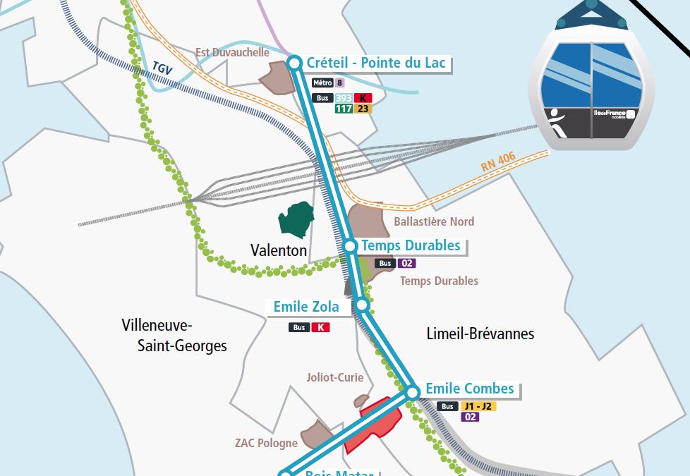 La position des écologistes de Créteil sur le téléphérique «Téléval»